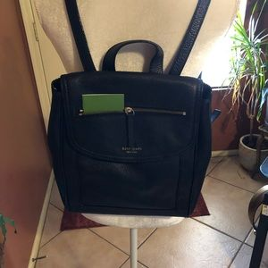 Kate Spade Black Leather Large Backpack
